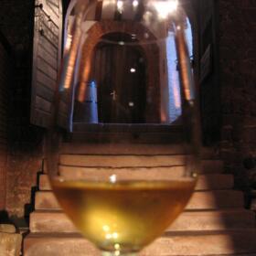 Verre paysage Schlumberger vin Alsace